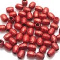 Beads, Acrylic, Burgandy, Cylindrical, 9mm x 7mm x 7mm, 8g, 40 Beads, (SLZ0118)